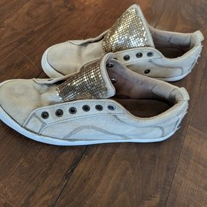 Guess gold sneakers